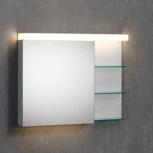 Lichtspiegelschrank durchgehende Beleuchtung AP