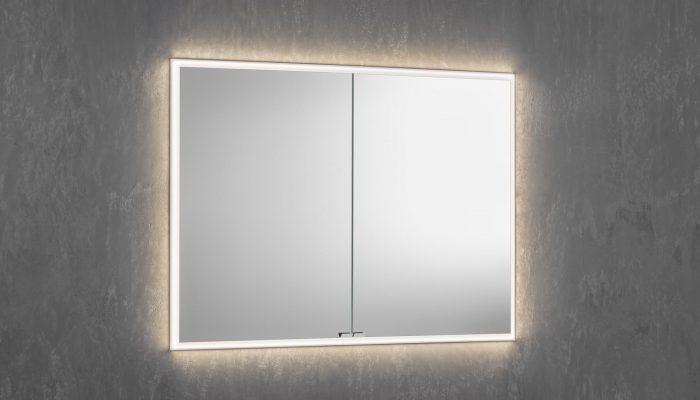 Des armoires de toilette lumineuses qui flottent? Vous pouvez le faire dans des armoires encastrées!