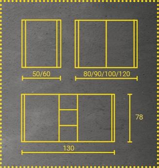 Lichtspiegelschrank Lumara Abmessungen
